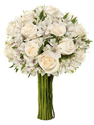 Benchmark Bouquets Elegance Roses and Alstroemeria, No Vase