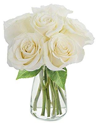 Kabloom bouquet of long stemmed white roses half dozen with vase kabloom bouquet of long stemmed white roses mightylinksfo