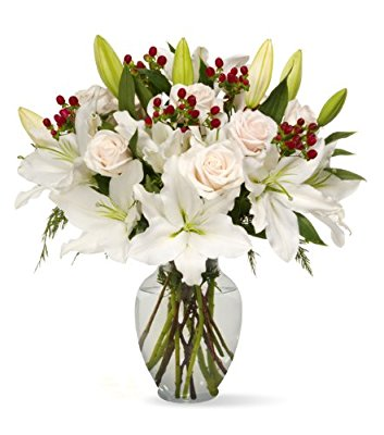 Benchmark Bouquets White Elegance, With Vase